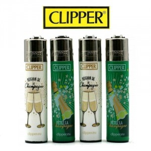 Lot de 4 Briquets Clipper - Région de Champagne