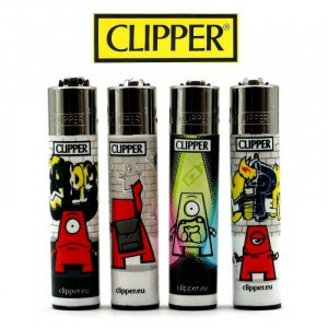 Lot de 4 Briquets Clipper - Little Graffiti