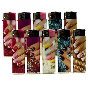 Lot de 10 Briquets Electronique - Nail Polish