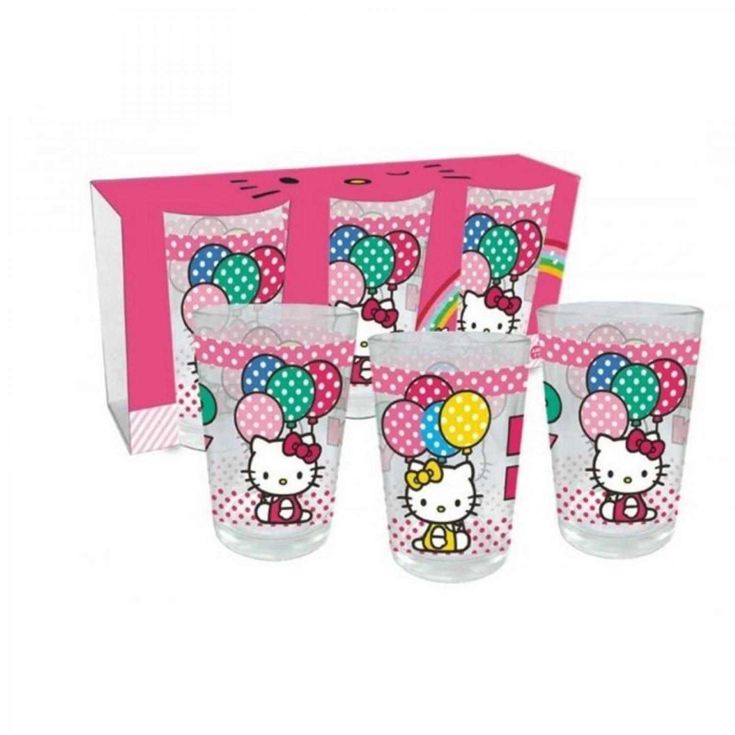 Pack 3 Verres Hello Kitty (A)