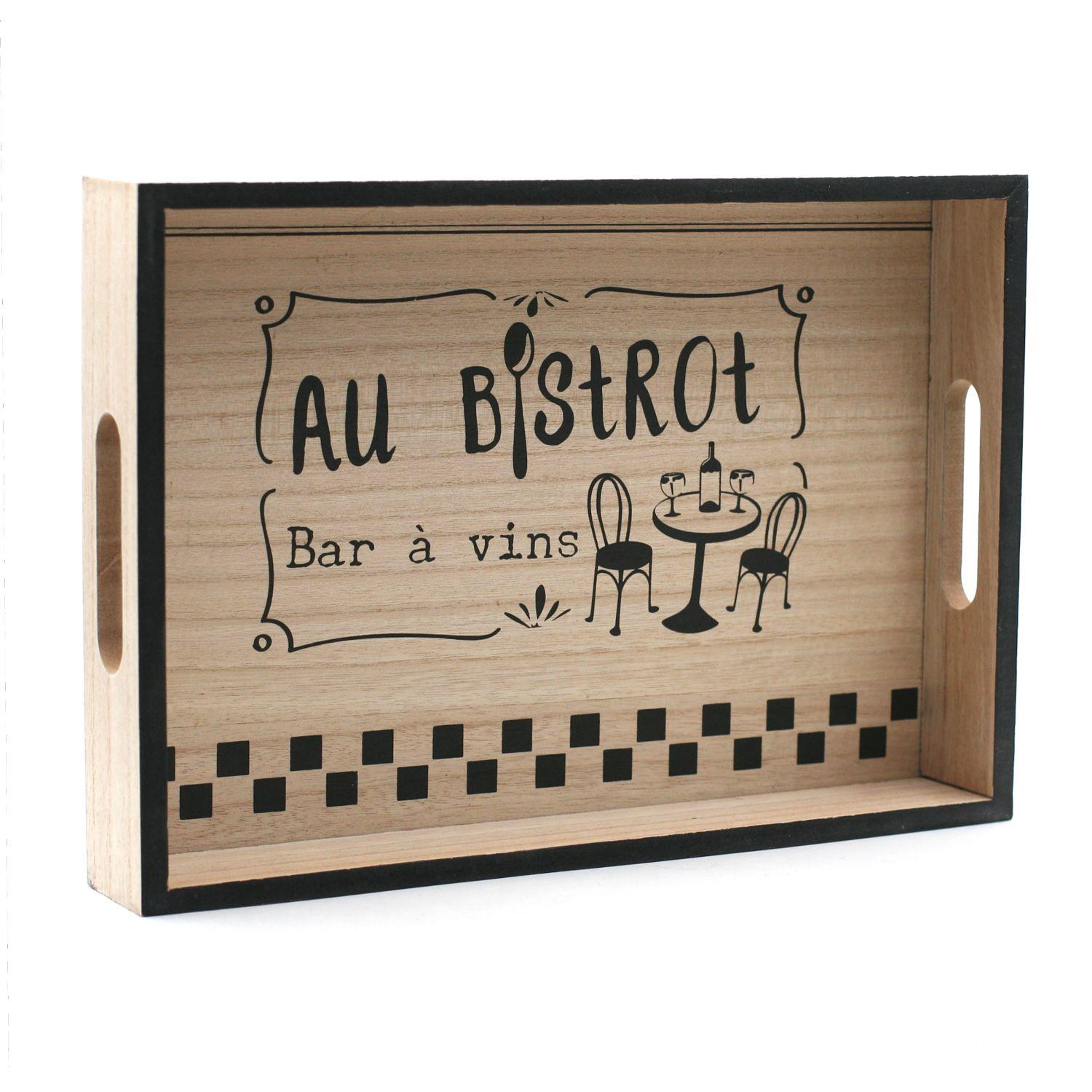 Plateau bois 33 x 23 cm - Collection AU BISTROT