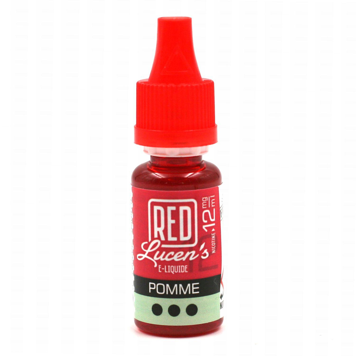 E-Liquide RED LUCEN'S – Pomme 12 mg