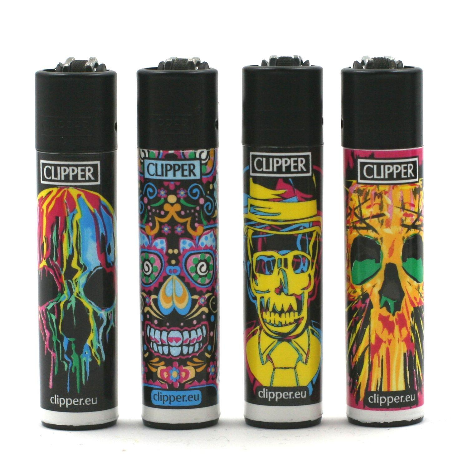 Lot de 4 Briquets Clipper – Skulls 2